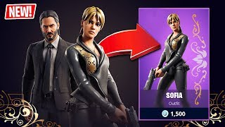 "FORTNITE x JOHN WICK ""SOFIA"" SKIN!! (Fortnite Battle Royale)"