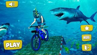 Bike Racing Games - Underwater Bicycle Stunts: Ramp Racing - Gameplay Android free games