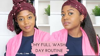 AIR-DRYING AT 9 WEEKS POST RELAXER - My Full Wash Day Routine | Healthy Hair Junkie