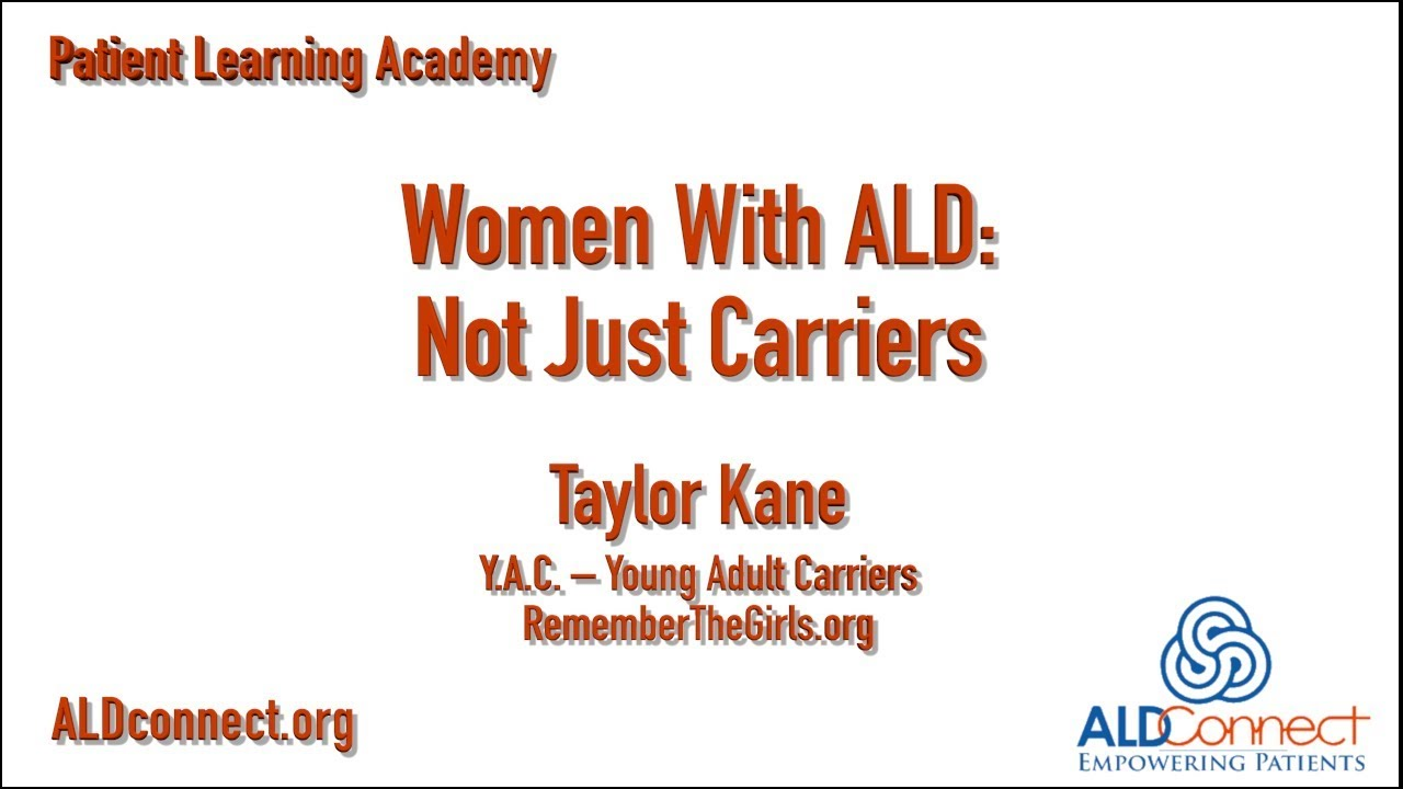 Woman With ALD: Not Just Carriers