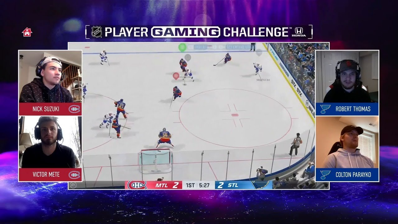 Canadiens (Mete and Suzuki) vs. Blues (Parayko and Thomas) | NHL Gaming Challenge