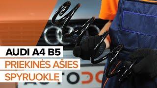 Kako zamenjati Vzmeti AUDI A4 (8D2, B5) - video vodič