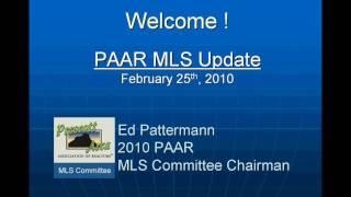 PAAR MLS Update   Feb 25th 2010