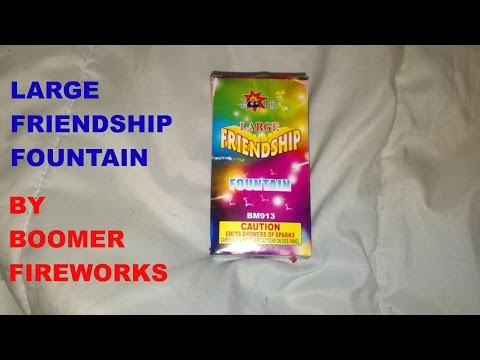 Large Friendship Fountain by Boomer Fireworks