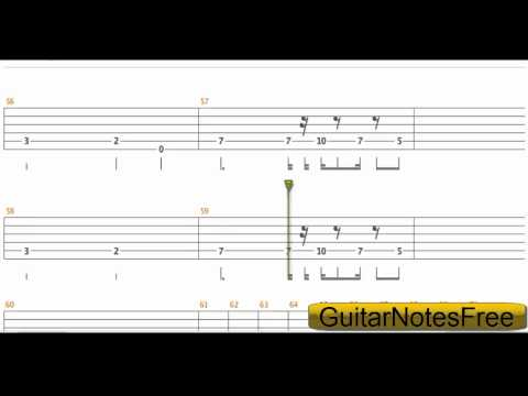Seven Nation Army - The White Stripes Guitar Tab HD