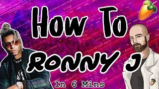 From Scratch: A Ronny J Song in 6 Minutes | FL Studio Distorted Bass Hard Trap Tutorial 2018