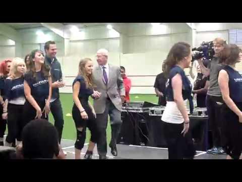 Sir Bobby Charlton dancing