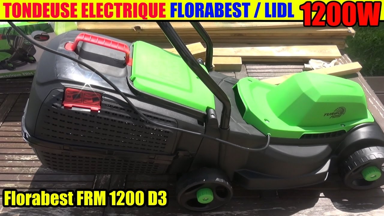 tondeuse a gazon lidl florabest 1200w electric lawnmower elektro rasenm her youtube. Black Bedroom Furniture Sets. Home Design Ideas