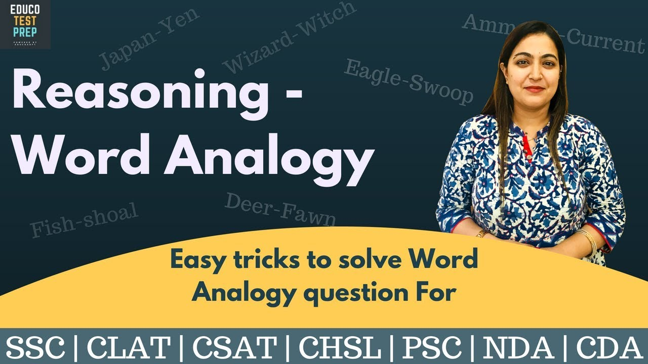 Reasoning - Word Analogy Tricks You Must Know (In Hindi) | Ssc Cgl | Clat |  Csat | Chsl | Psc | Cds  Educo Test Prep 24:59 SD