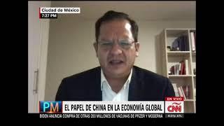 Entrevista sobre China y su papel en el crecimiento de la Economía Internacional. CNN en Español.