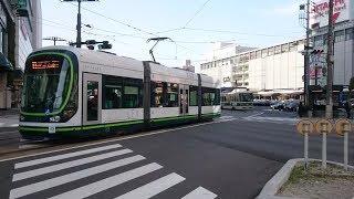 広島電鉄1000形1010号『GREENMOVERLEX』&800形811号 広島駅〜猿猴橋町