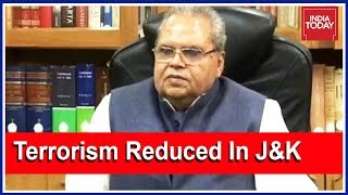 J&K Governor Satyapal Malik Says Terrorism Reduced To Great Extent