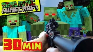 Repeat youtube video REALISTIC MINECRAFT - ZOMBIE APOCALYPSE - STEVE vs 1,000 ZOMBIES  + GIANT ZOMBIE EPIC BATTLE