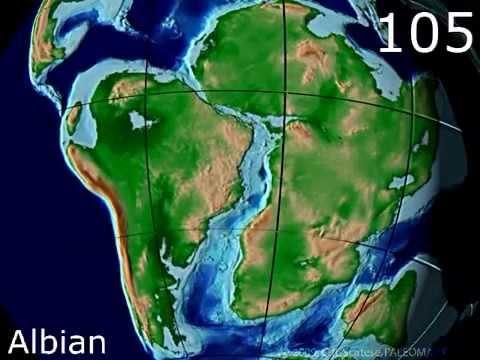Cretaceous Plate Tectonics - Scotese Animation