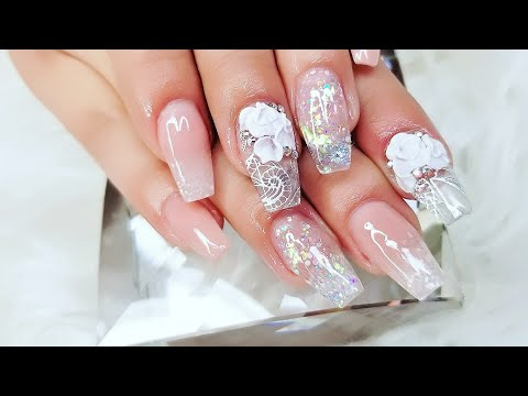 Nail Art Design Elegant Crystal Nails