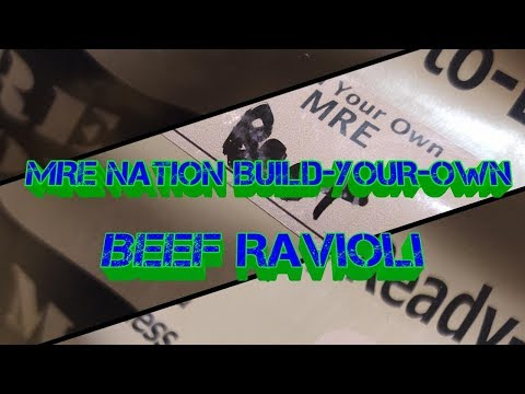 MRE Nation Build-Your-Own Single Meal Beef Ravioli