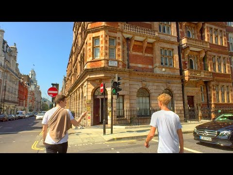 LONDON WALK up Harley Street from Oxford Circus and Cavendish Square | England