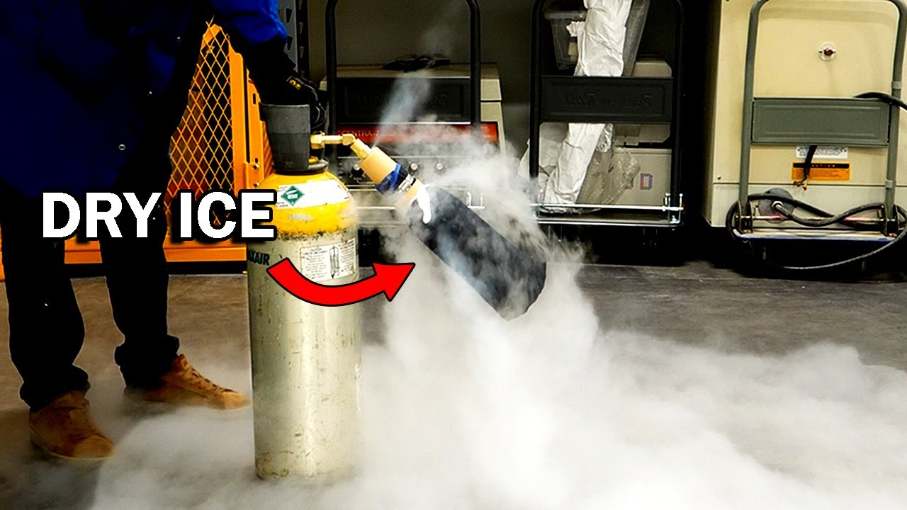 Making dry ice is nutty