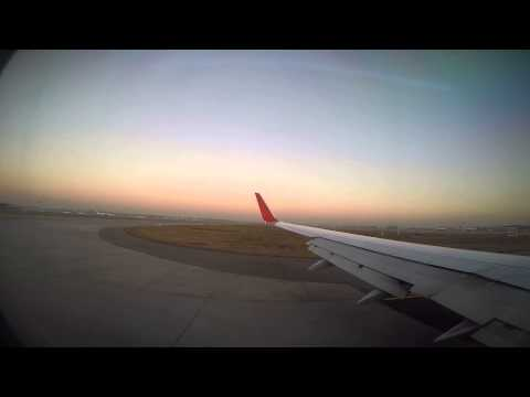 Aeroflot Boeing 737, flight SU2001 landing at Sheremetyevo International Airport [UUEE/SVO].