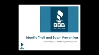 Identity Theft and Scam Prevention