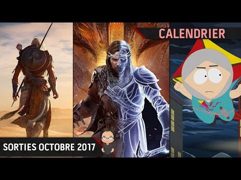 Calendrier : Les sorties jeux vidéo octobre 2017