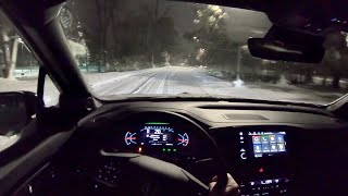 2019 Honda Passport AWD Elite - POV Winter Driving (Night)