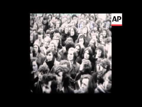 SYND 31-1-72 DEMONSTRATION AT BRITISH EMBASSY IN DUBLIN