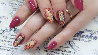 Быстрый и простой дизайн ногтей Флористика. Цветы на ногтях