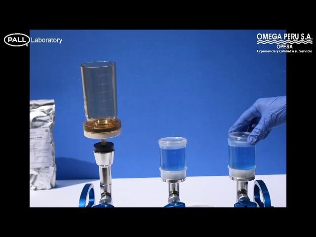 Control de calidad microbiológico Embudos de filtración MicroFunnel Convirtiéndolos en Placa Petri