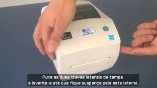 Zebra GC420T - Impressora de etiqueta: Troca de ribbon
