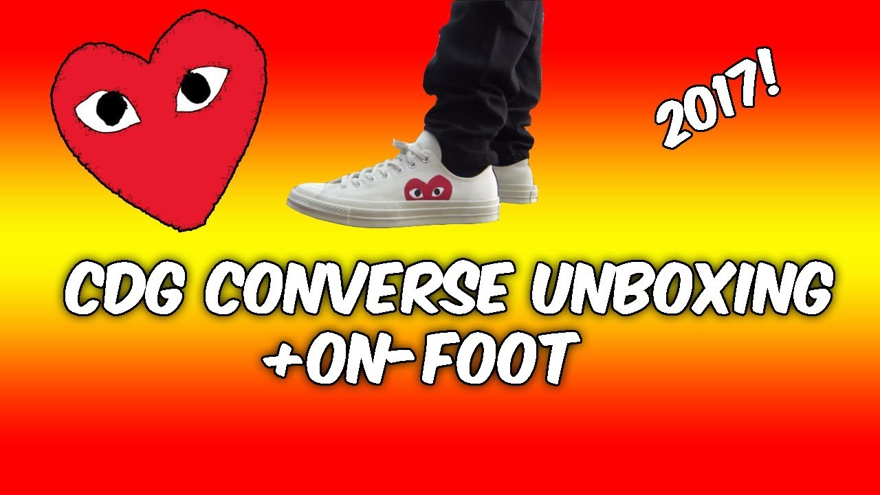 59a45c56ccfc COMME DES GARCON (CDG) CONVERSE UNBOXING + ON FEET REVIEW! - YouTube