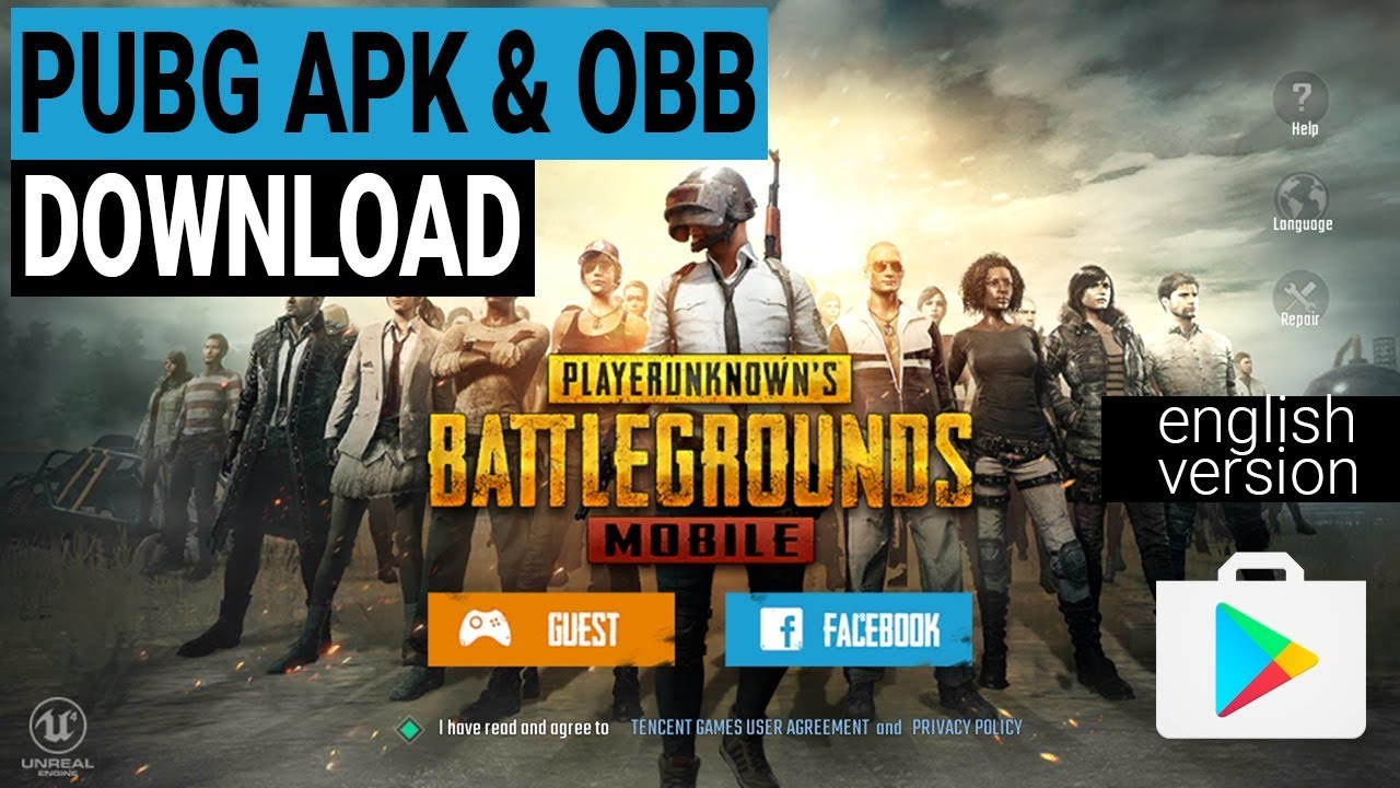 Latest PUBG Mobile (English Version) .APK + .OBB File Download Link (Always Updated)  #Smartphone #Android