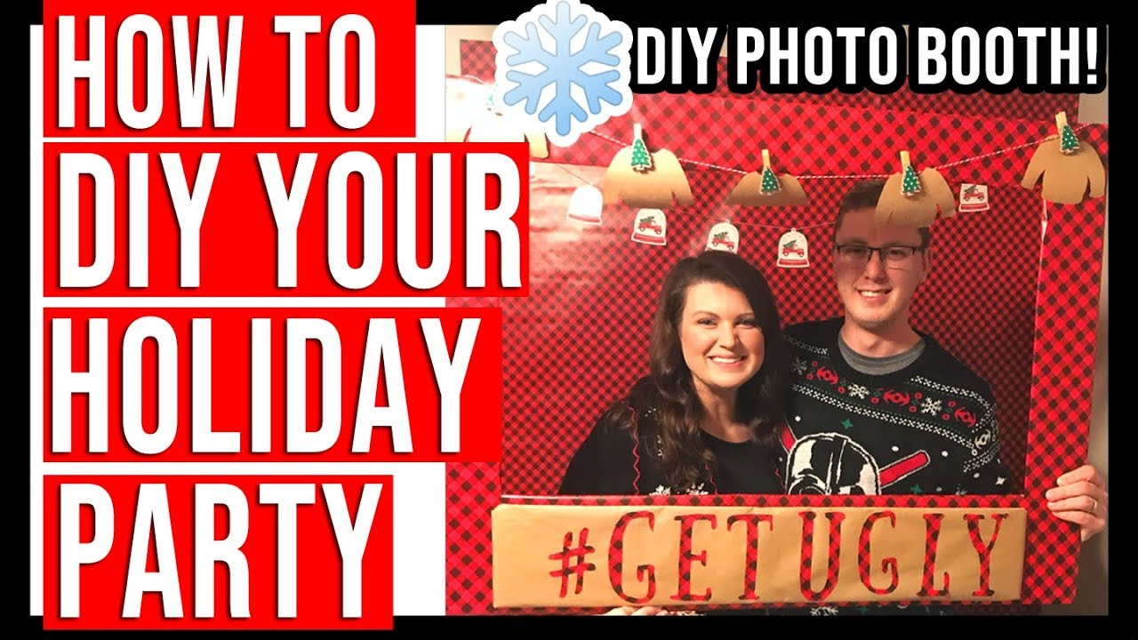 Holiday Hosting Tips Diy Photo Booth Easy Appetizer Recipes