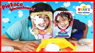 PIE FACE SHOWDOWN CHALLENGE NEW Whip Cream in the face Family Fun game for Kids Egg Surprise Toys