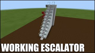 How To Build A Working Escalator In Minecraft Bedrock!  No Commands/mods