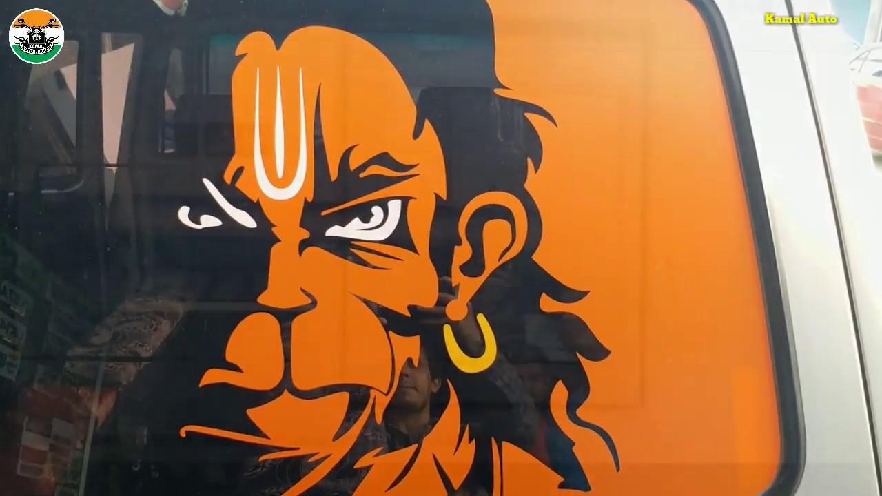 Angry hanuman sticker for car bike