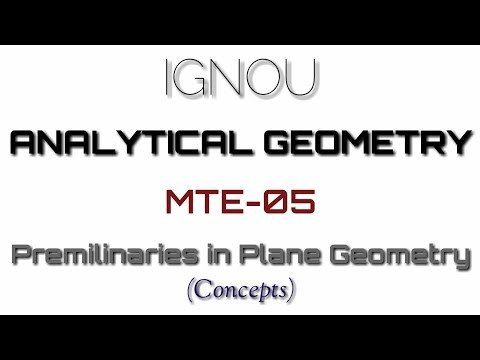 IGNOU | B.Sc (Mathematics) | Analytical Geometry | MTE-05 | Block 1 | Unit 1 (Part 1)