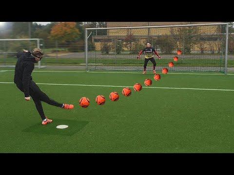 FUNNY FOOTBALL CHALLENGES • KONZI vs MICHI