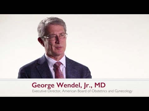 Dr. George Wendel on ABOG's MOC Pilot