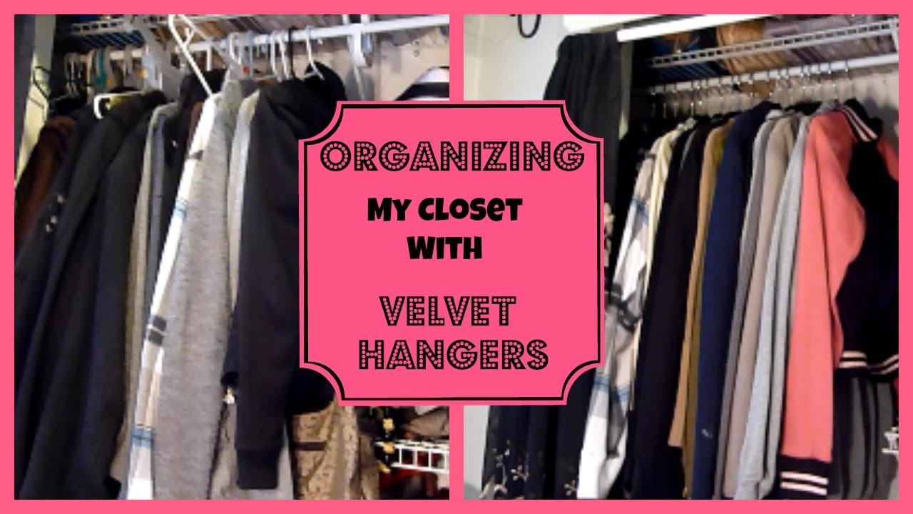 Organizing My Closet With Velvet Hangers │ Huggable