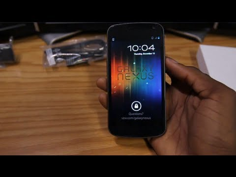 Verizon Galaxy Nexus Unboxing & First Boot!