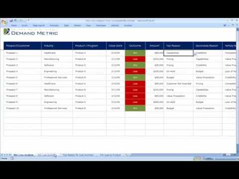 Win Loss Analysis Tool - YouTube