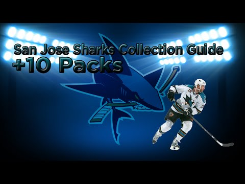 "NHL 15: San Jose Sharks Collection + 10 Packs ""New Pack Method Guarantees Good Pulls"""