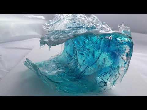 Ocean Inspired Resin Wave Sculpture - you can make one too!