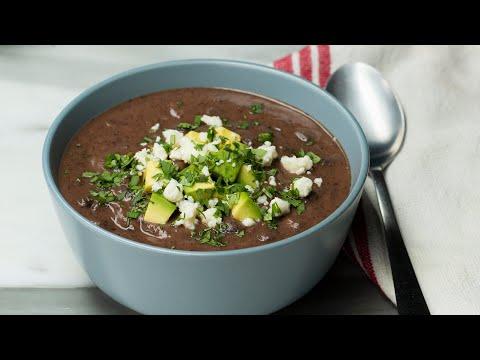 Healthy & Hearty Black Bean Soup •Tasty