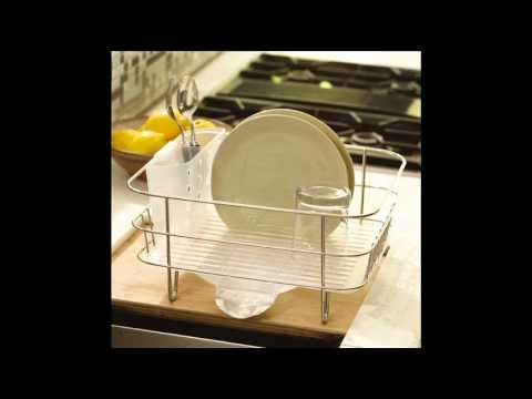 simplehuman Compact Wire Frame Dishrack; over sink dish rack, best ...