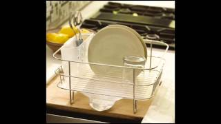 Simplehuman Compact Wire Frame Dishrack; over sink dish rack, best dish racks