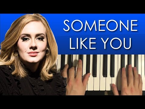 How To Play - Adele - Someone Like You (PIANO TUTORIAL LESSON)