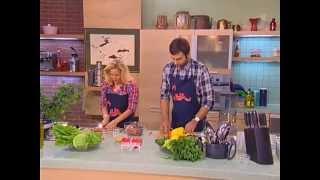 Смак - Юлия Ковальчук - Сазан с овощами, Салат с тунцом и белой фасолью