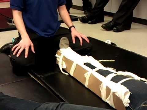 Long Bone Leg Splint P2 Youtube